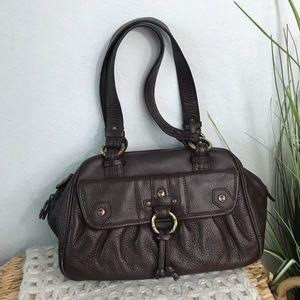 Tommy Bahama Brown Leather Satchel Bag